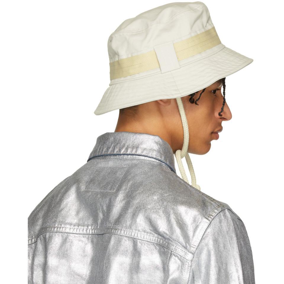 b50e7f00e4e Acne Studios Off-white Bla Konst Sun M Sat Bucket Hat in White for ...