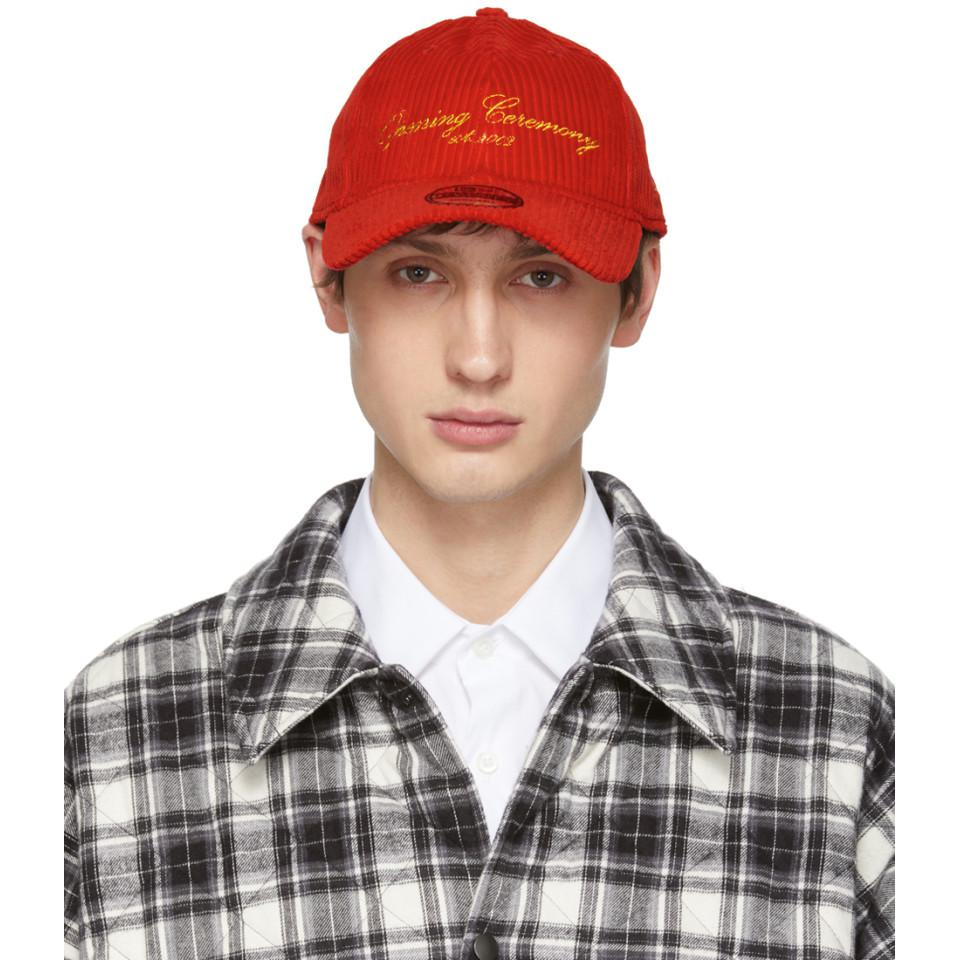 9dedbeda532 Lyst - Opening Ceremony Red New Era Edition Corduroy Cap in Red for Men