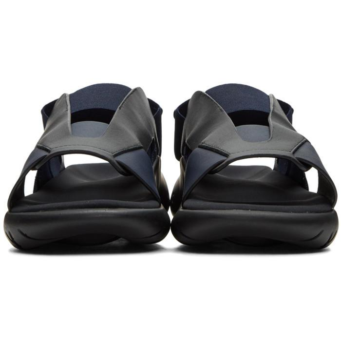 81c1061d6 Lyst - Y-3 Black   Blue Qasa Elle Sandals in Black