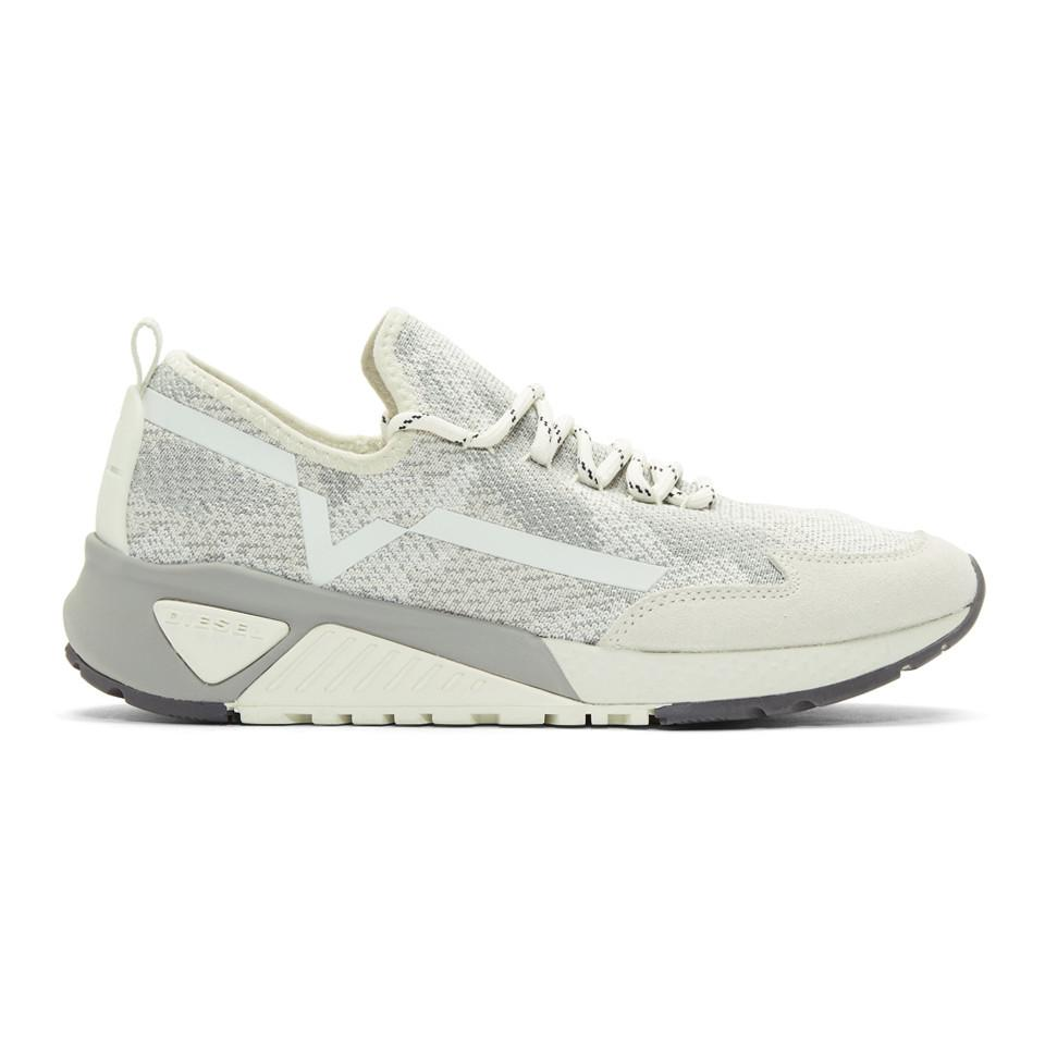 free shipping best store to get Diesel White & Grey S-KBY Sneakers enjoy shopping where to buy cheap real auWtn