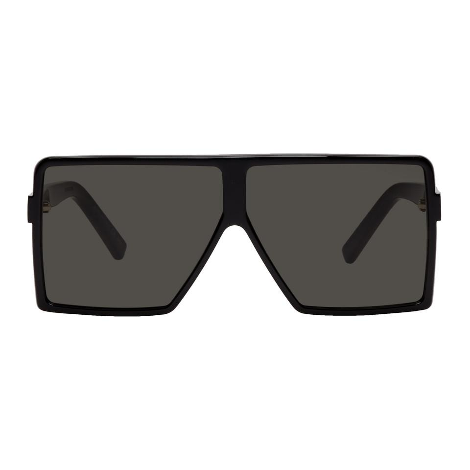 Saint Laurent Black Small Betty Shield Sunglasses