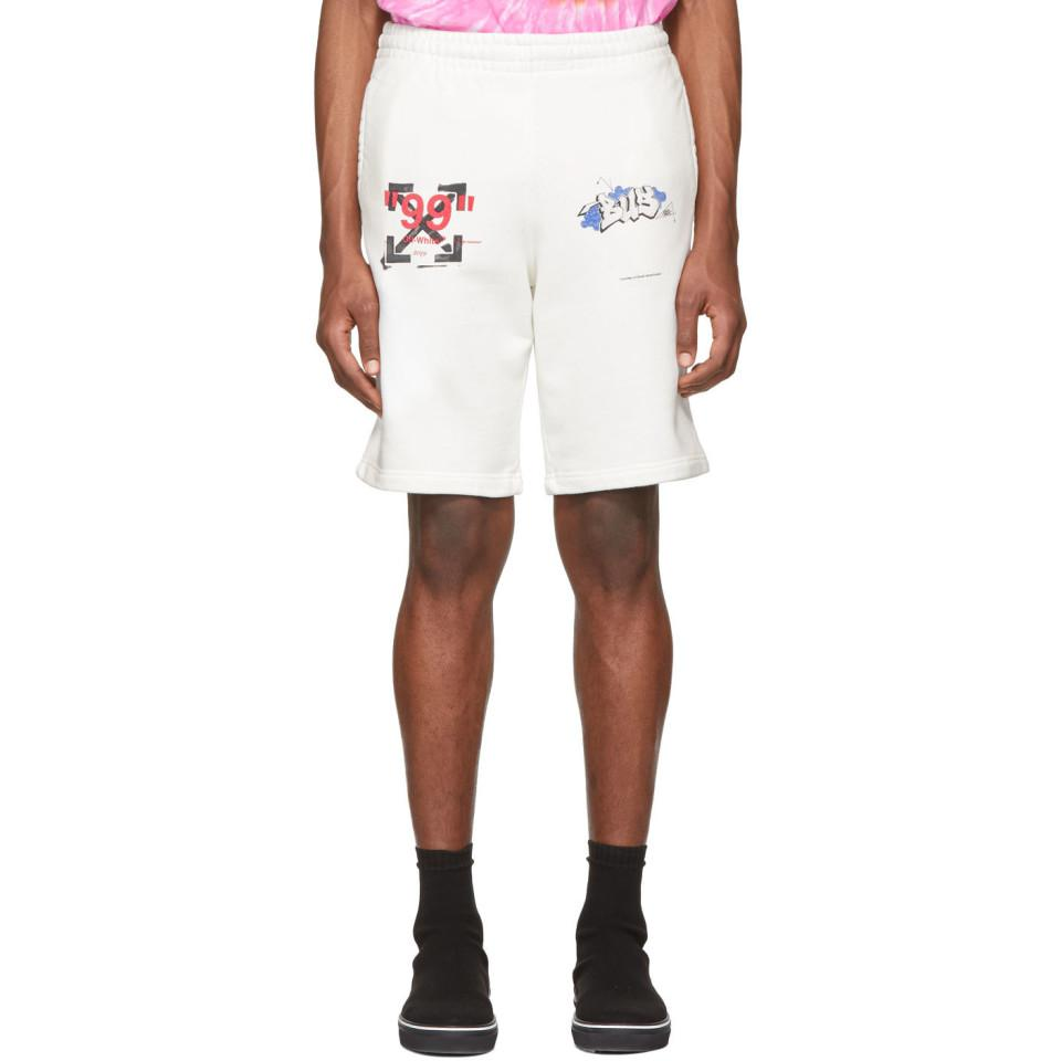 17913ffaab84d Off-White c o Virgil Abloh White Dondi Bus Shorts in White for Men ...