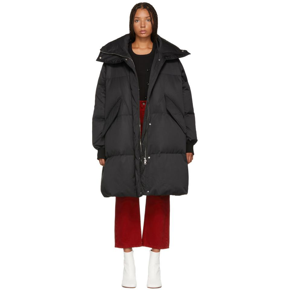 Lyst - MM6 by Maison Martin Margiela Black Long Down Puffer Coat in ... d9b94343a7cd0