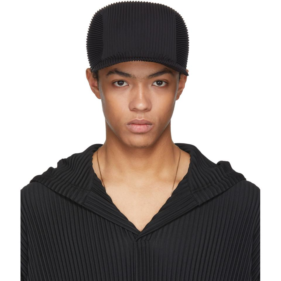 pleated cap - Black Homme Pliss hZQBLdeZ5t