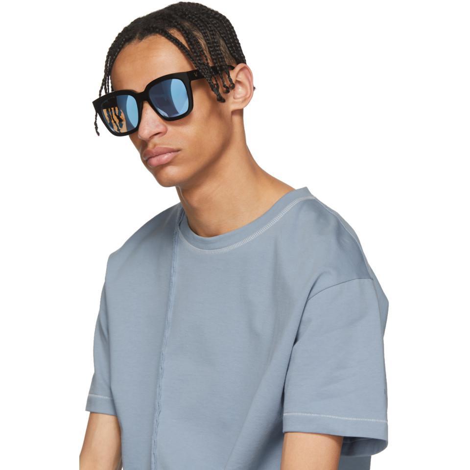 db18e5ee11 Lyst - Gentle Monster Black And Blue Dreamer Hoff Sunglasses in Blue ...