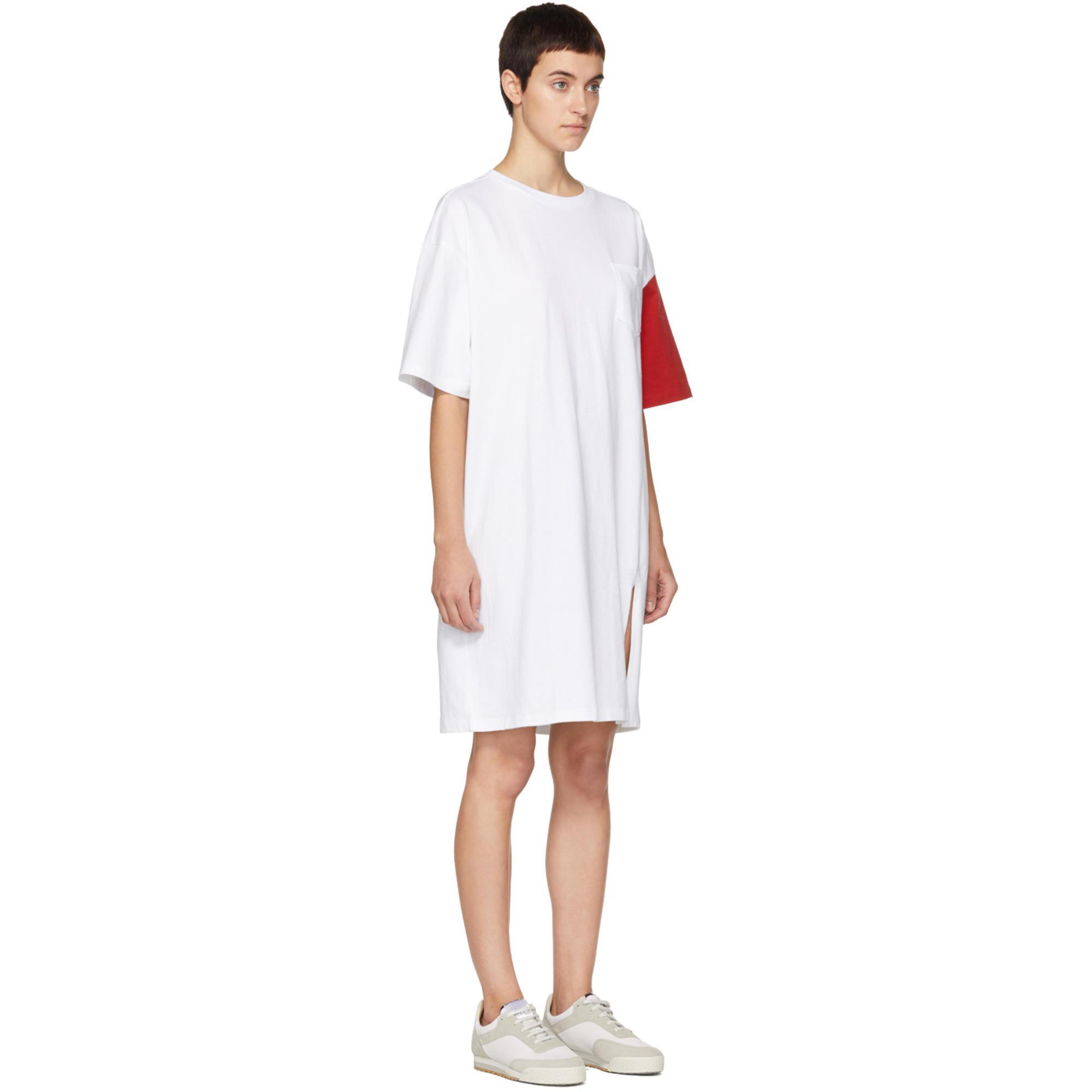 White and Red California Club T-Shirt Dress Sjyp iWQZxw