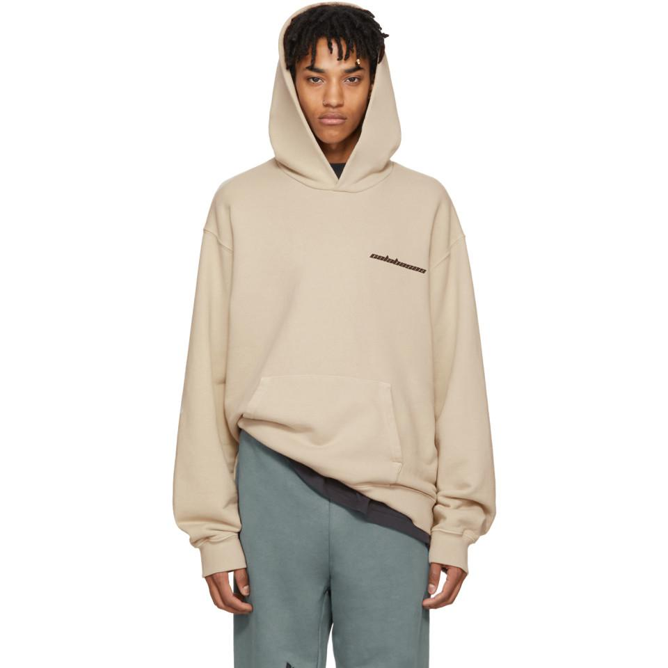 ef0fa7454 Lyst - Yeezy Beige Calabasas French Terry Hoodie in Natural for Men
