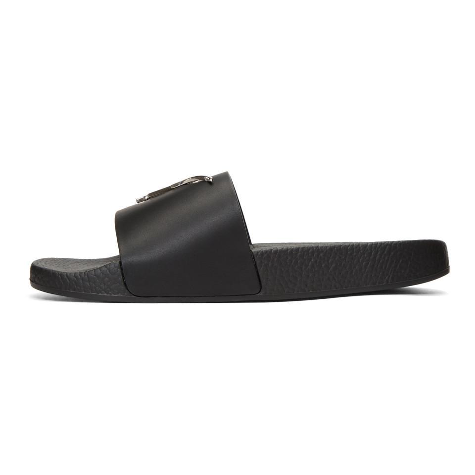 Giuseppe Zanotti Black All Over Logo Burel Sandals r8vwry