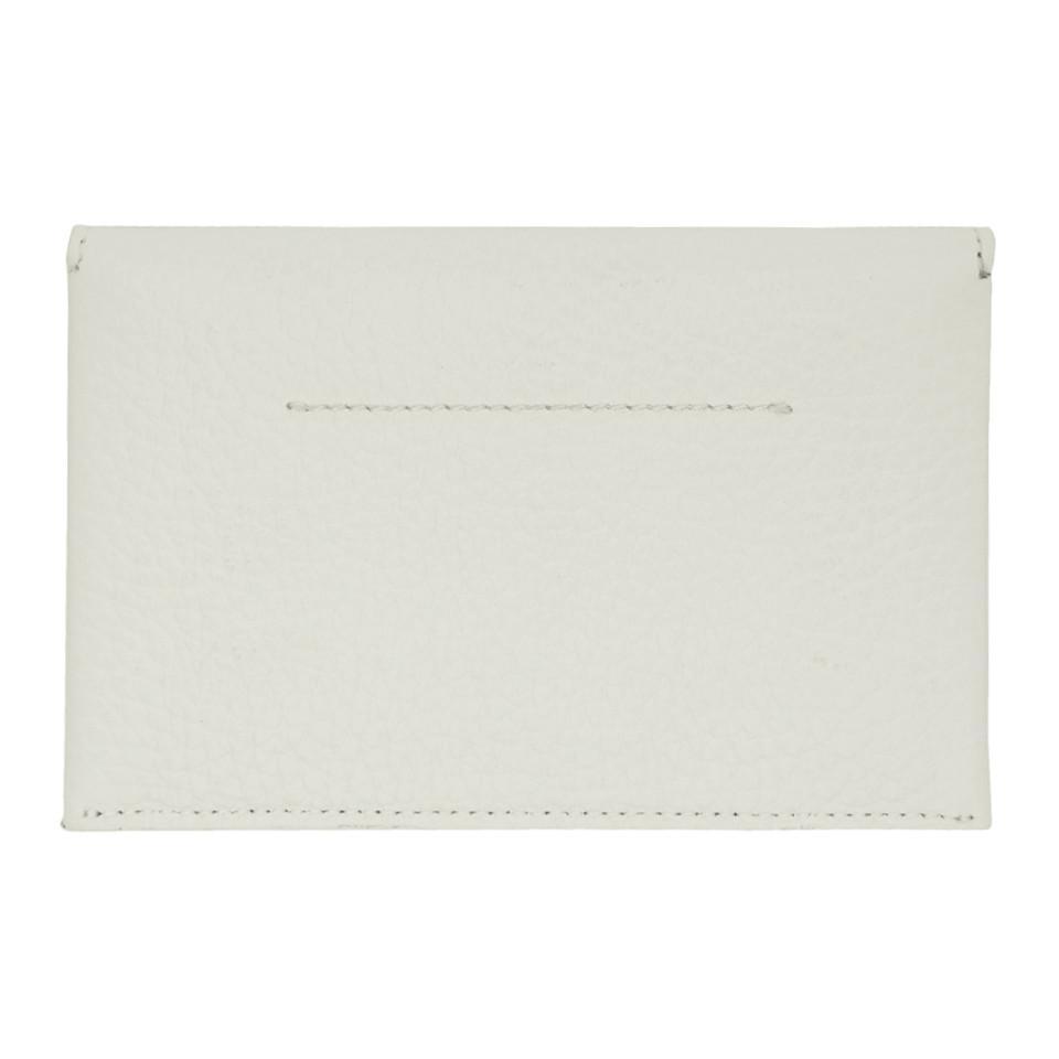 White Foldover Card Holder Maison Martin Margiela tHckjO