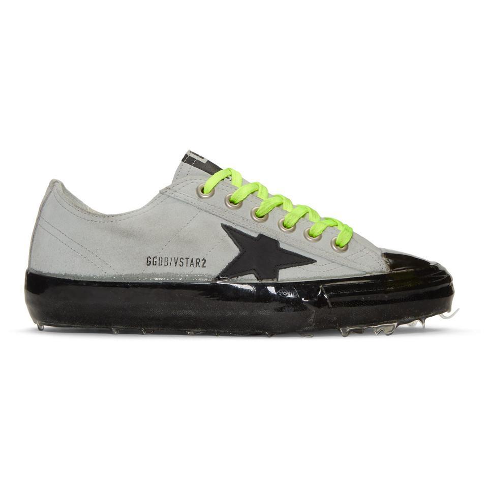 Golden Goose Grey Suede V-Star Dip Sneakers npie9