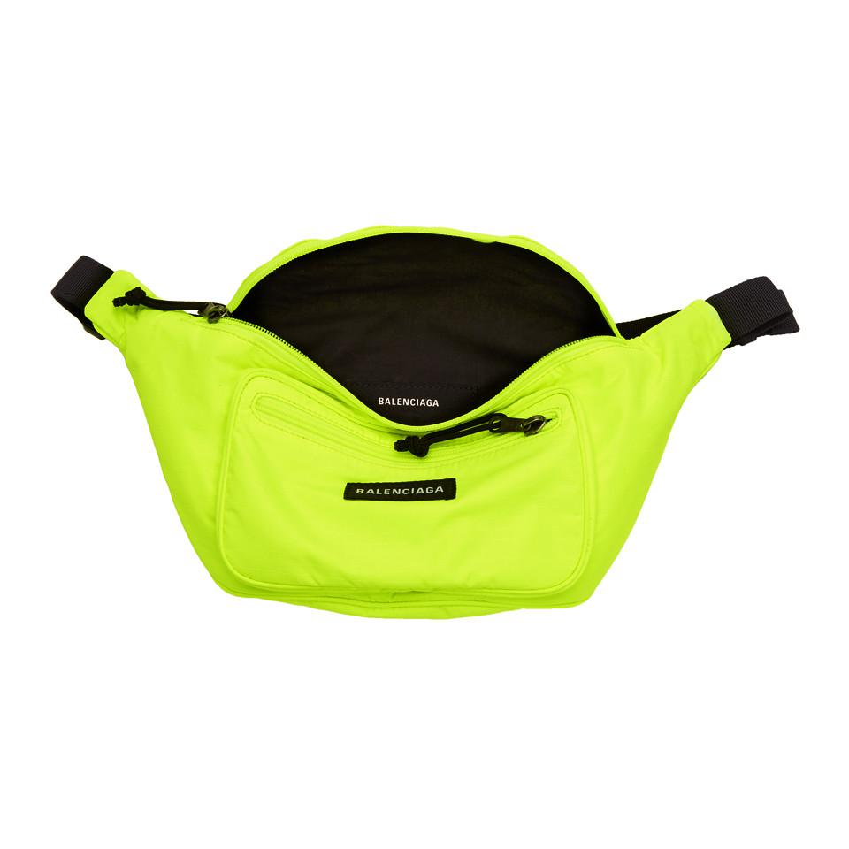 Yellow Nylon Explorer Belt Pouch Balenciaga iZMZhBj