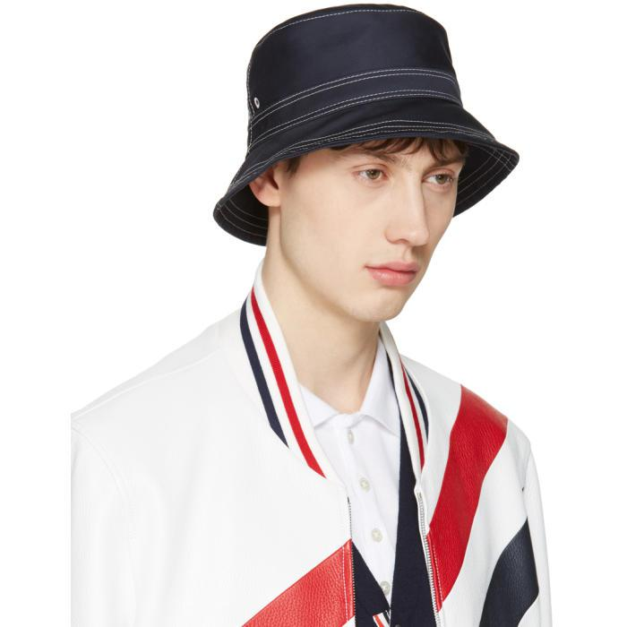 1b30f18e6b8 Lyst - Thom Browne Navy Bucket Hat in Blue for Men