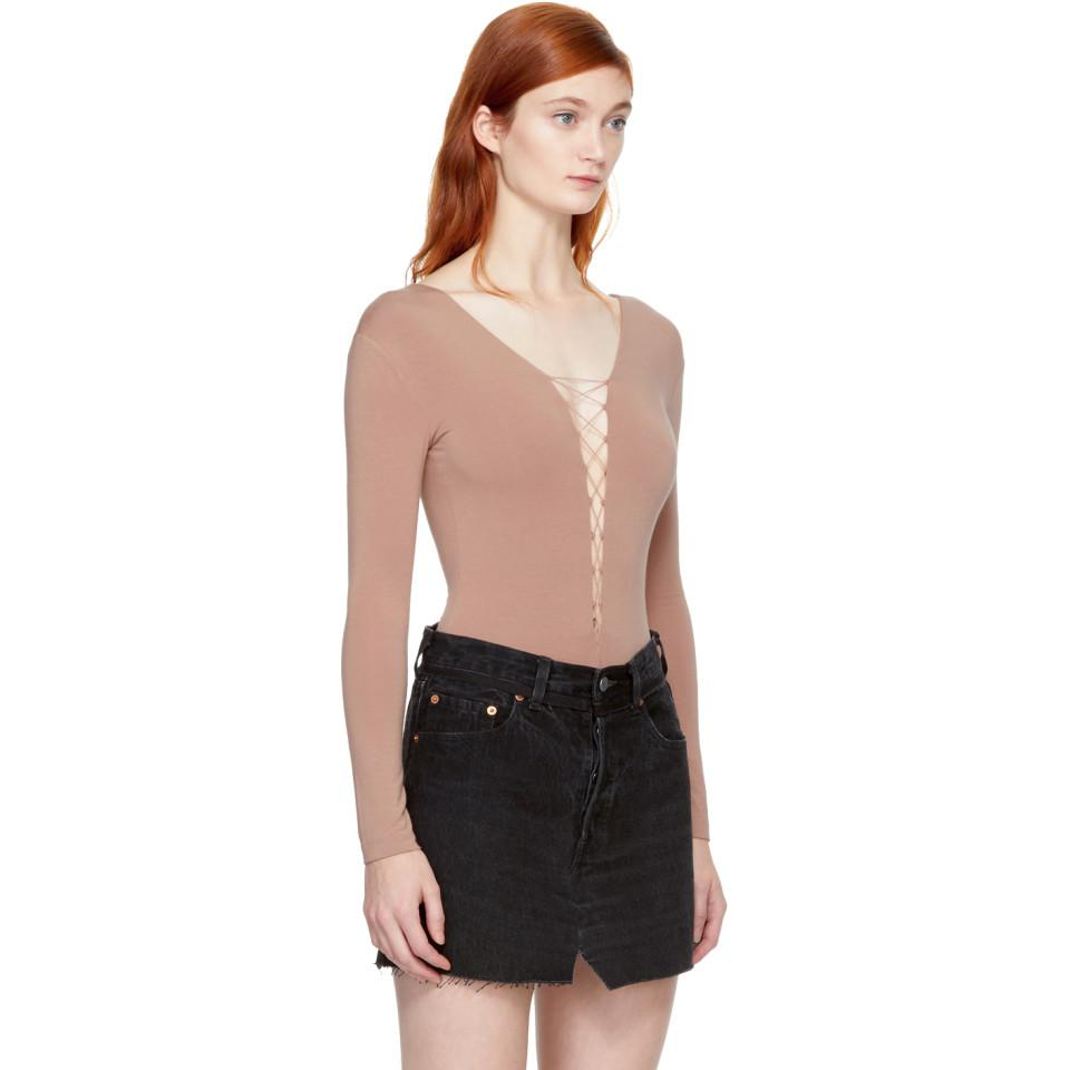 Pink Bungee Lacing Bodysuit Alexander Wang Release Dates Online Perfect Sale Online Eastbay Sale Online Get Authentic Online Discount Pictures yq2FTH