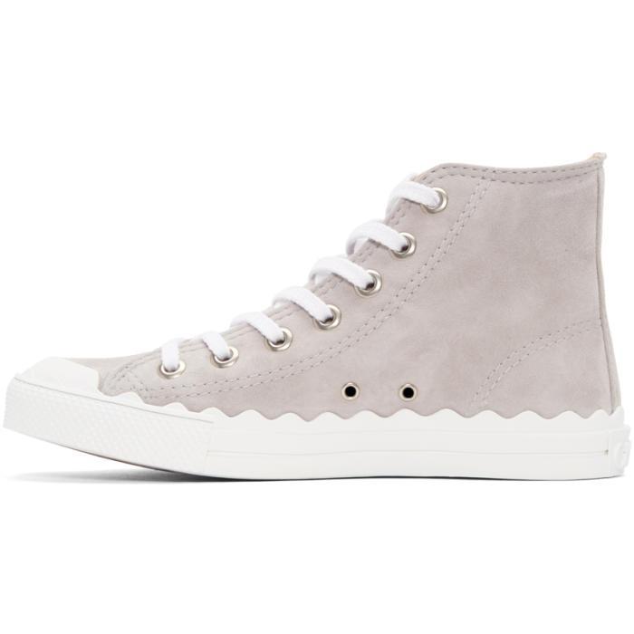 Chloé Grey Kyle High-Top Sneakers NcCOyy
