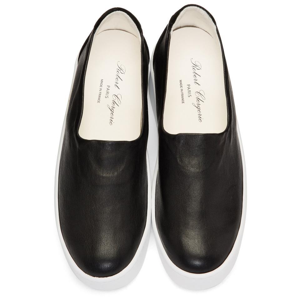 Black Tex Platform Slip-On Sneakers Robert Clergerie ZK5BFnZu