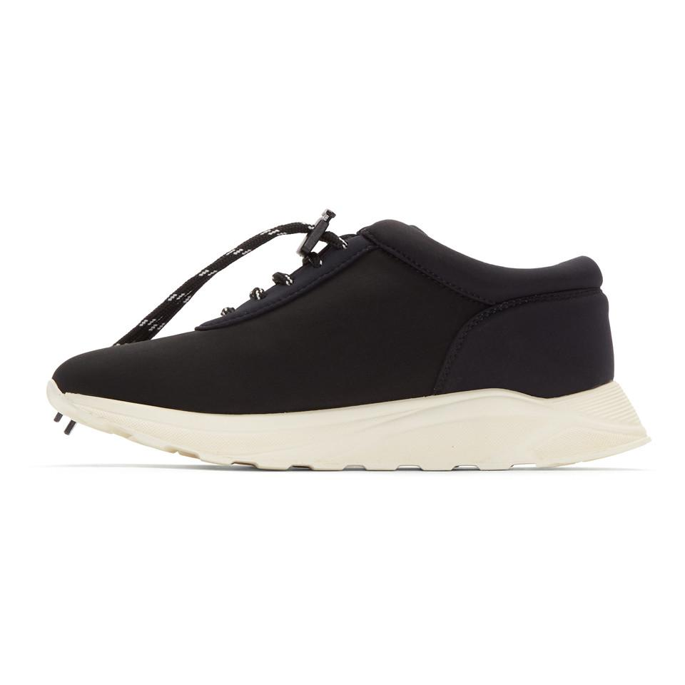 Joshua Sanders Black Neoprene Racing Sneakers