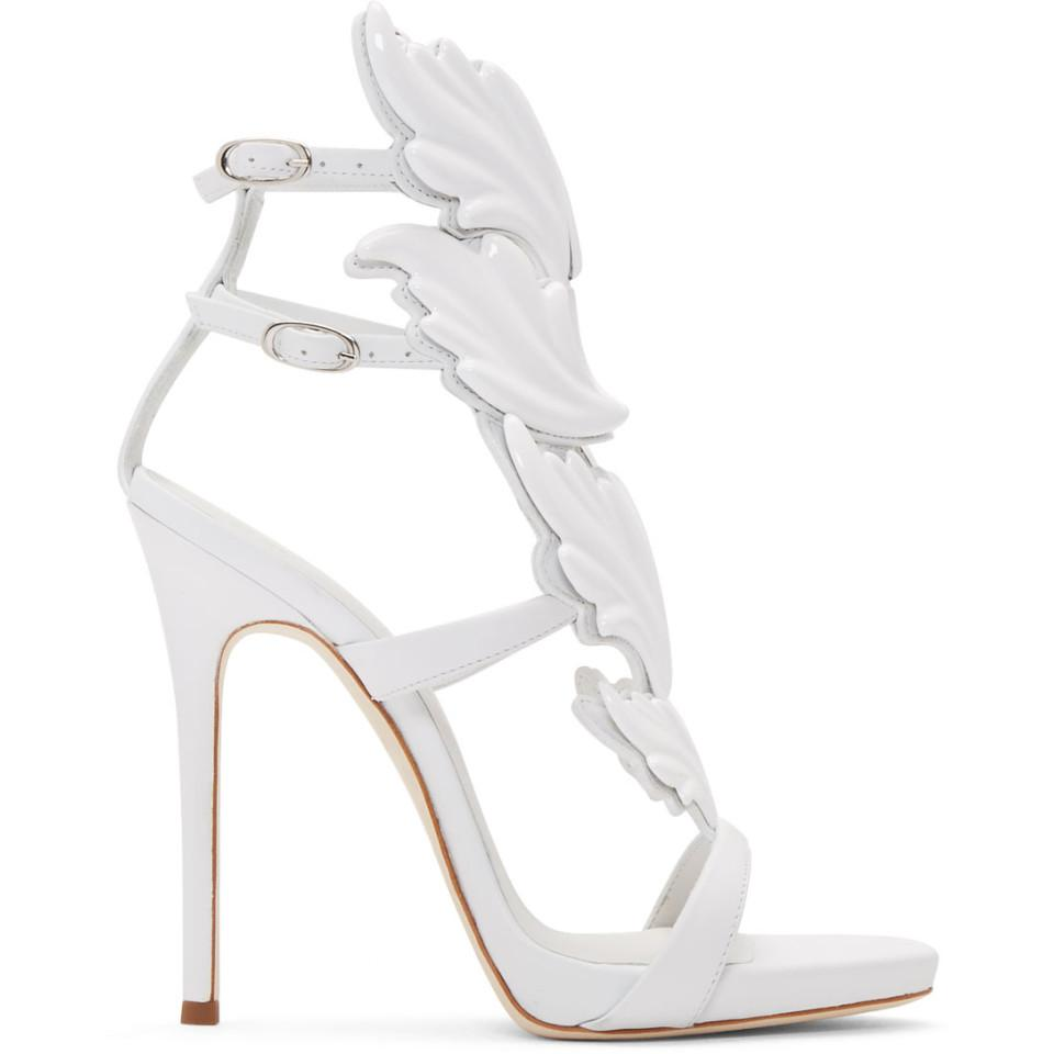 White Coline Wing Sandals Giuseppe Zanotti Low Shipping Fee Sale Online Outlet Online B74XT