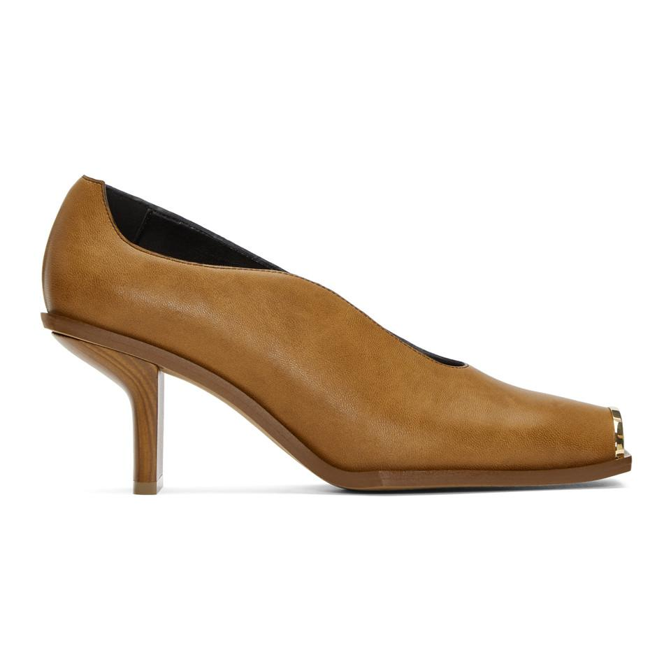 Stella McCartney Tan Square Toe Heels Pictures Sale Online dlPc2