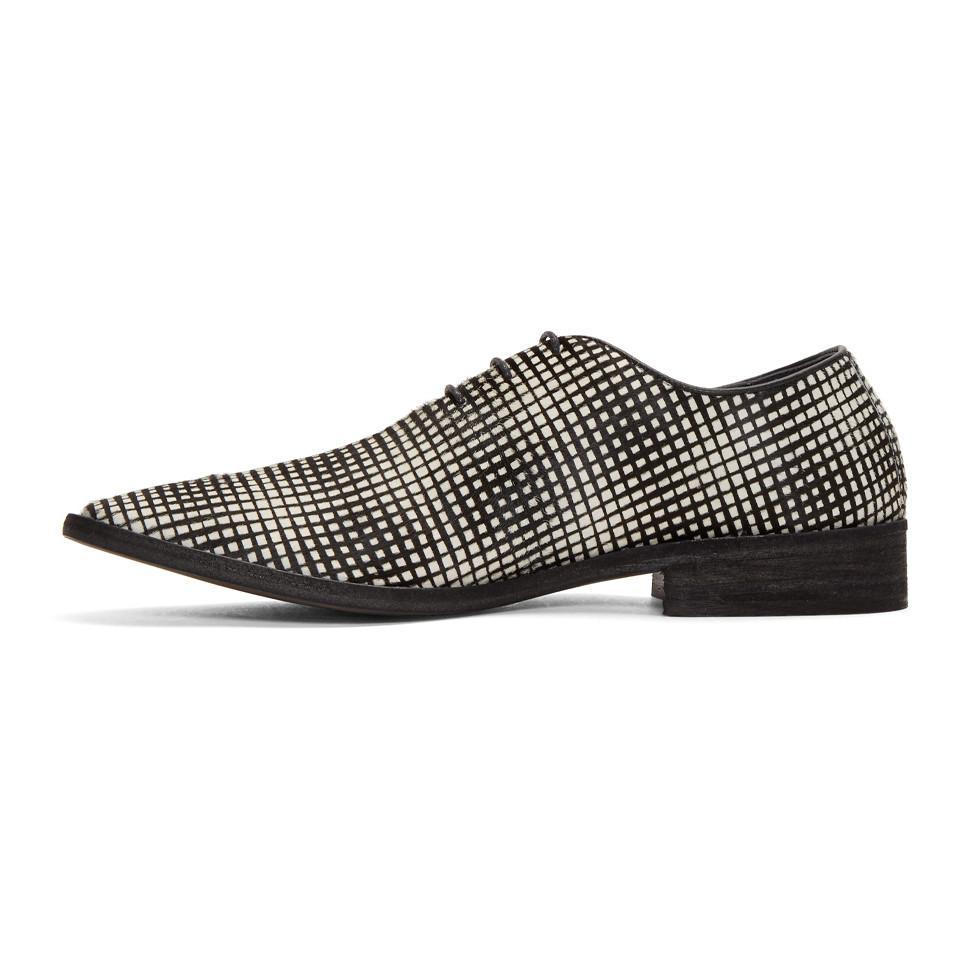 Haider Ackermann Black & White Okenite Pony Loafers MFlAyC8Qt