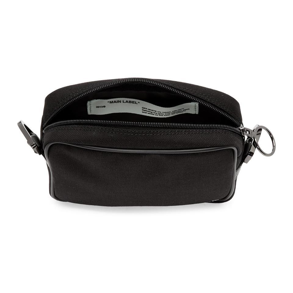 85e790b62f Lyst - Off-White c o Virgil Abloh Black Logo Camera Bag in Black