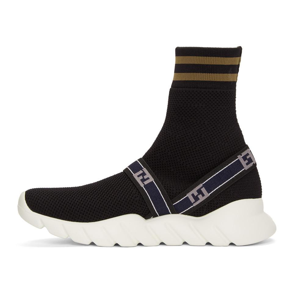 Fendi Forever ' Knit High-Top Sneakers NtvFwB