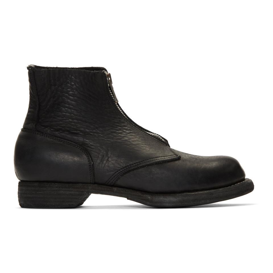 GUIDI Soldato Front-Zip Boots 8jWHMuB