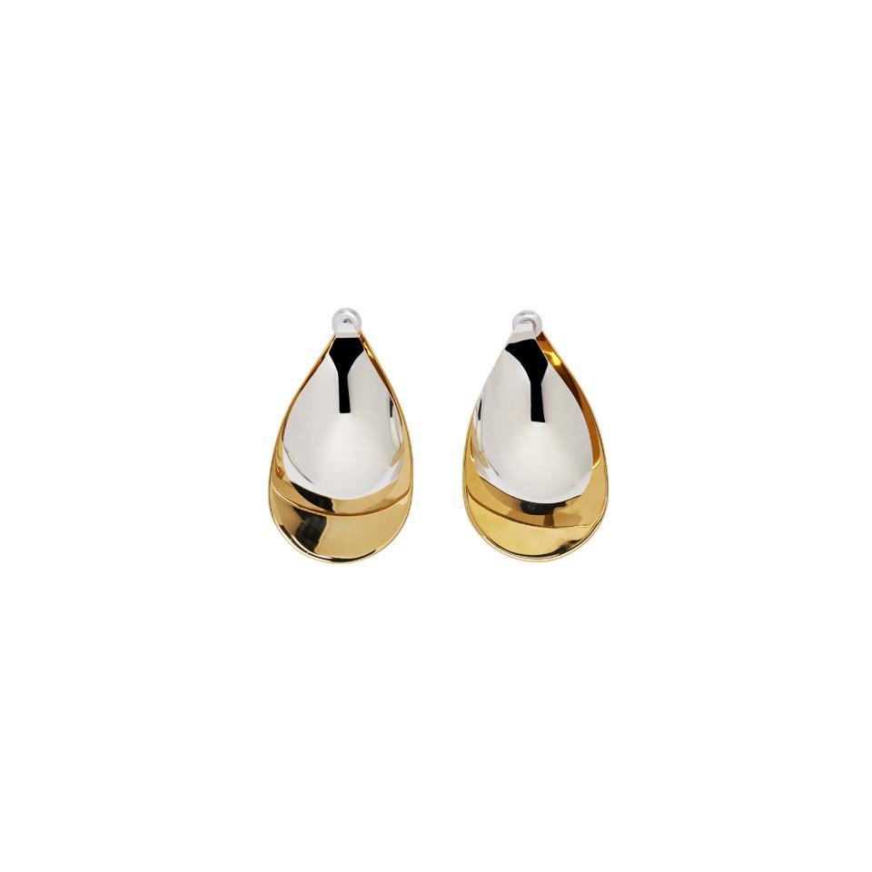 Charlotte Chesnais Petal XL Mono Earring in Yellow Vermeil and Silver e2yBXy0CPU
