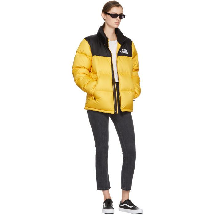 3fa356da30f2 Lyst - The North Face Yellow   Black Down Novelty Nuptse Jacket in ...