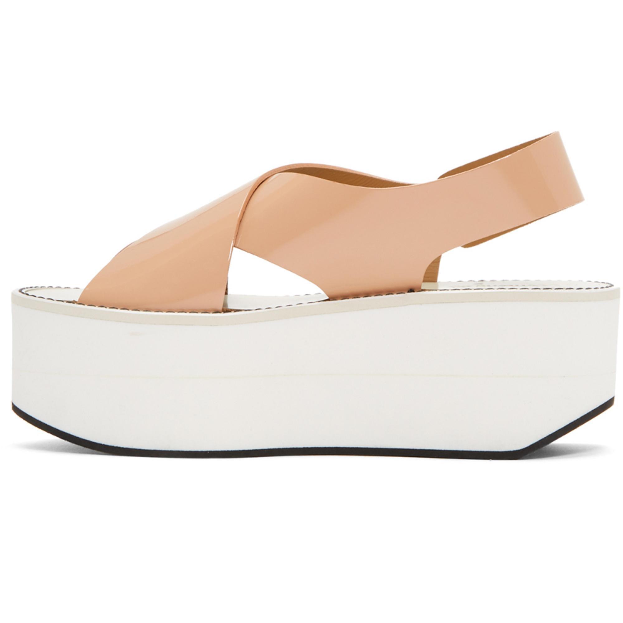 Flamingos Pink Patent Virginia Platform Sandals vryzPJ