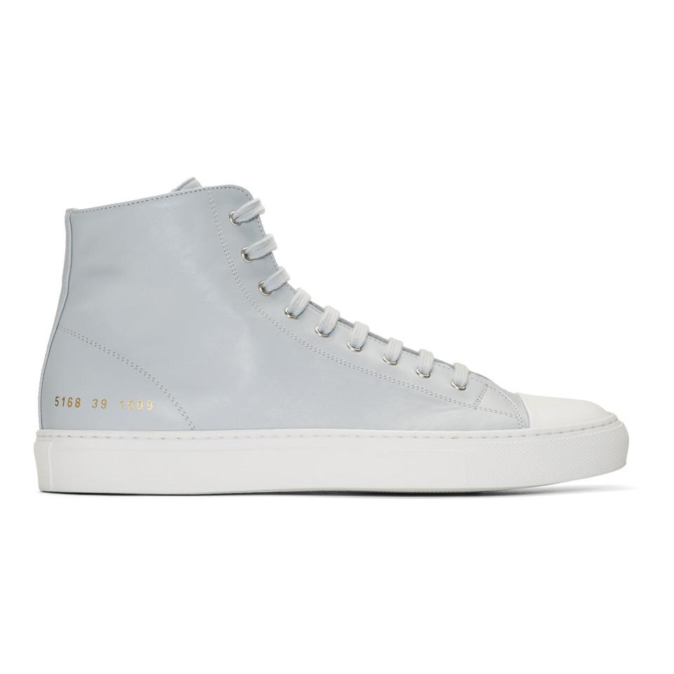 Grey and White Tournament High Cap Toe Sneakers Common Projects y2kQw6j