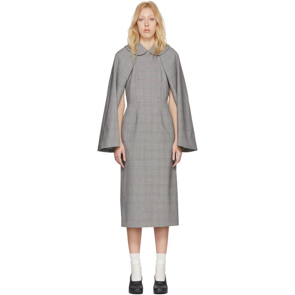 Black and White Wool Glen Check Dress Comme Des Gar?ons B6rgZFvk0