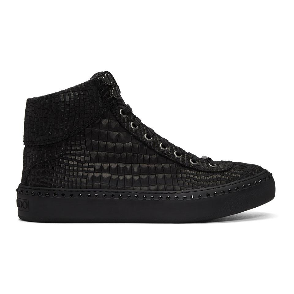 Argyile hi- top sneakers - Black Jimmy Choo London
