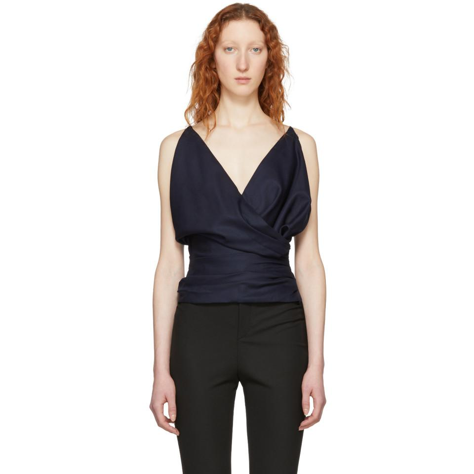 For Sale Cheap Price From China Manchester Online Navy Le Top Sao Blouse Jacquemus Low Price Sale Online Kfsixbz