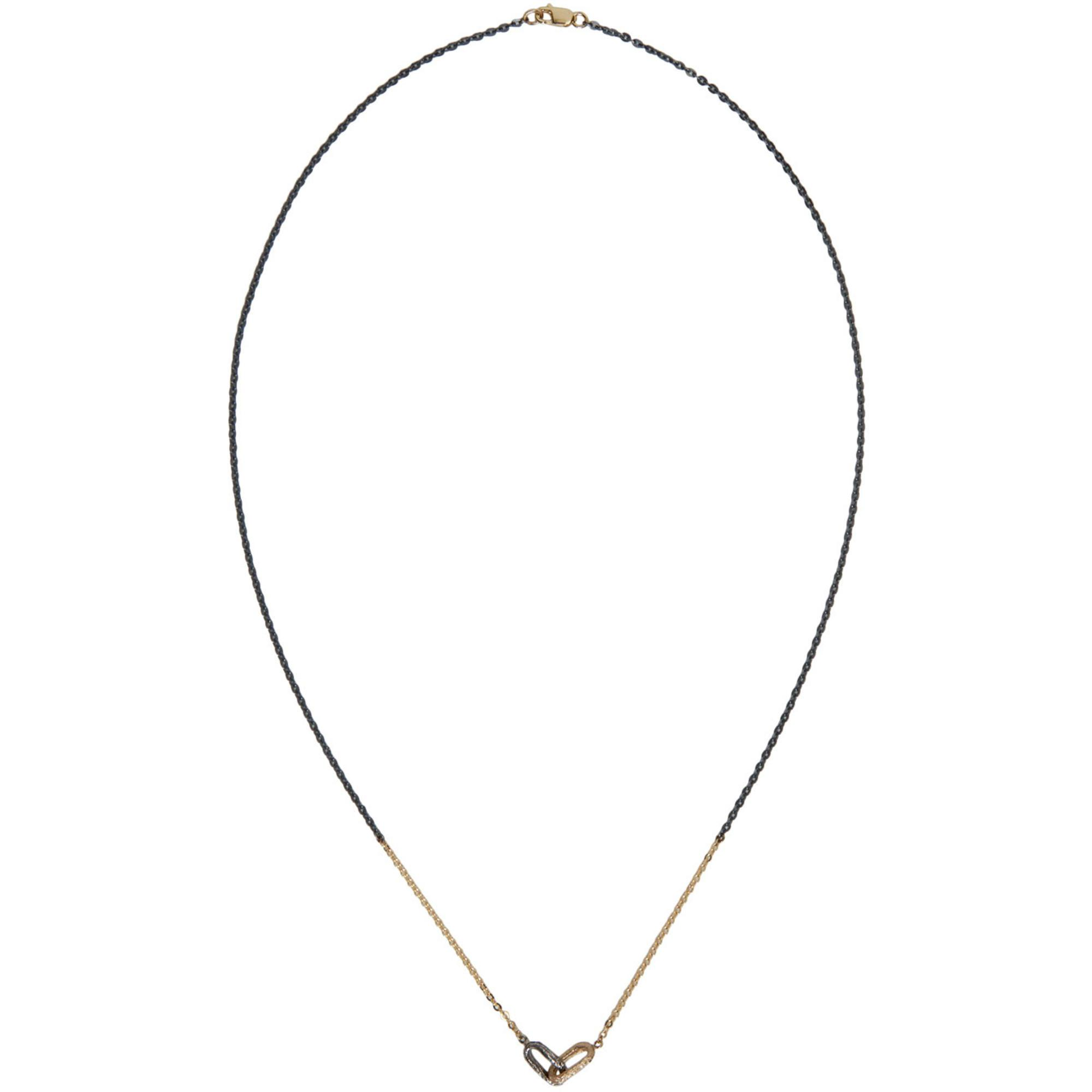 Silver and Rose Gold Double Link Necklace Pearls Before Swine r0iB9