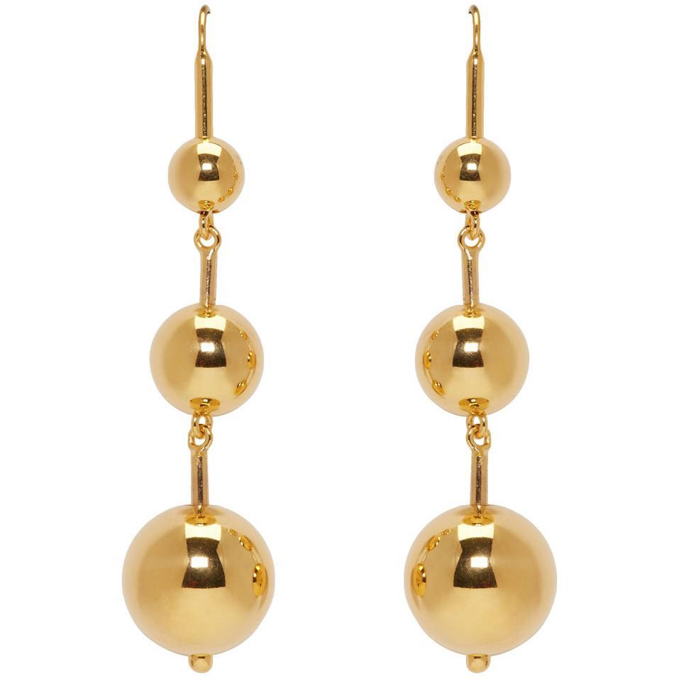 SSENSE Exclusive Gold Maryam Earrings Sophie Buhai q2XWCK