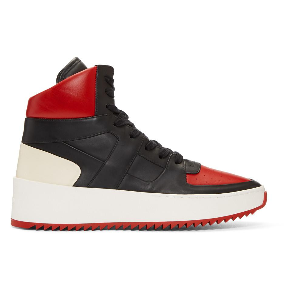 Fear of God Red & White B-Ball High-Top Sneakers PjaemT