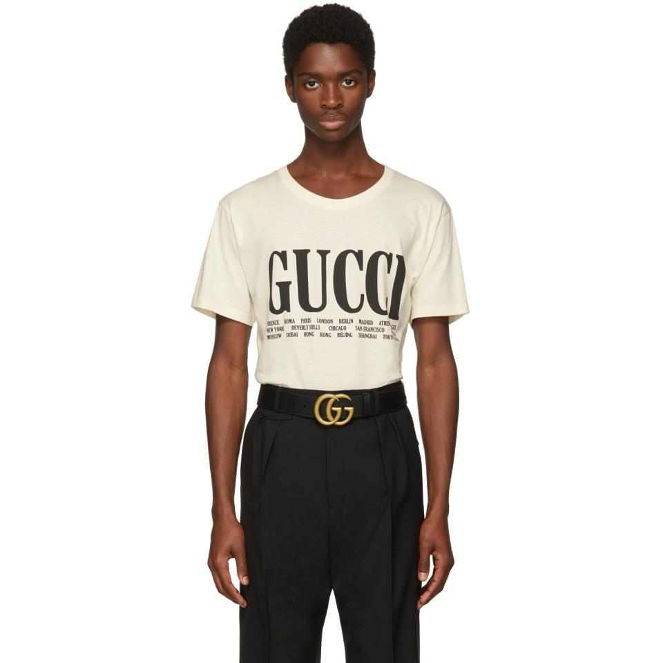 e3493960 Gucci Off-white Cities T-shirt in White for Men - Lyst
