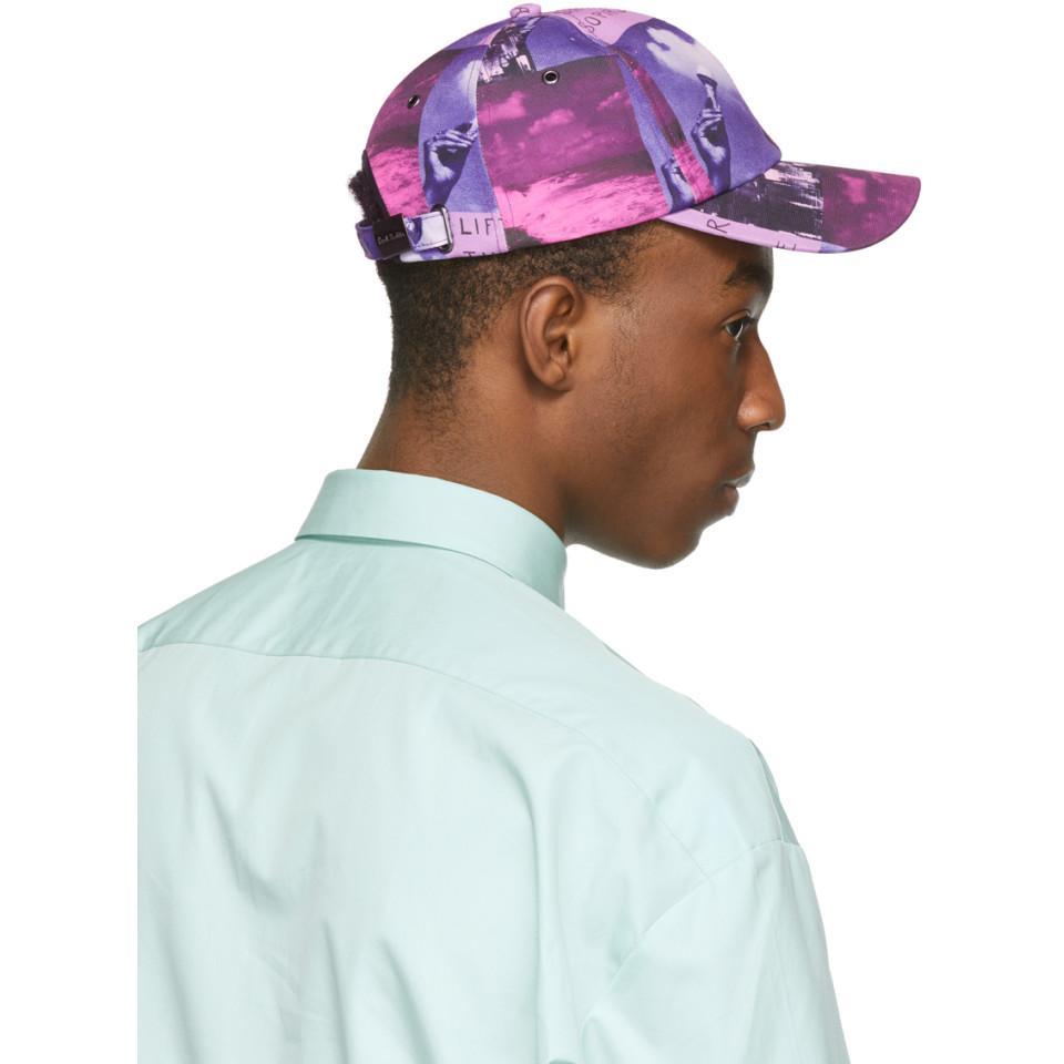 Paul Smith - Ssense Exclusive Purple Pauls Photo Baseball Cap for Men - Lyst.  View fullscreen 5ce665523355