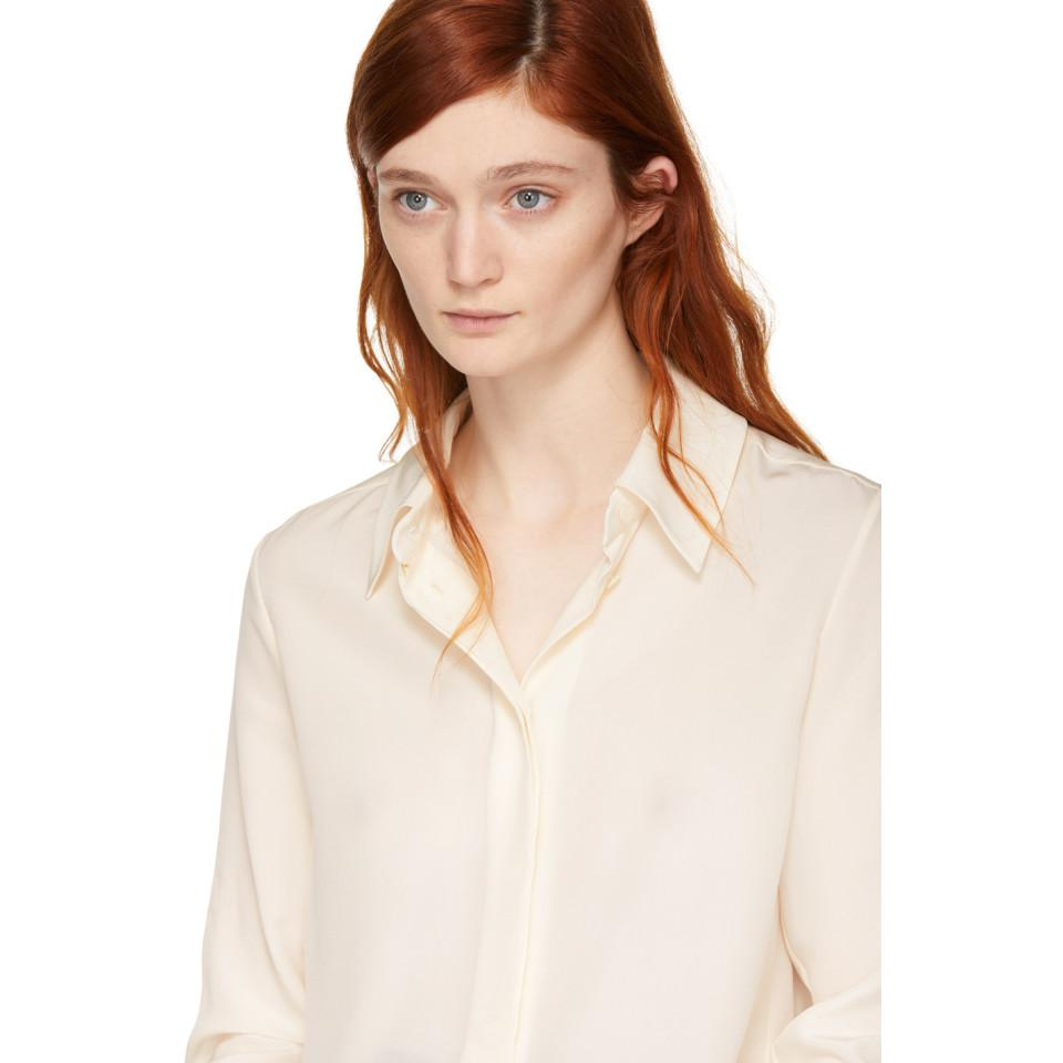 Ivory Silk Bow Scarf Shirt Chlo Recommend For Sale bxbxpFIJ