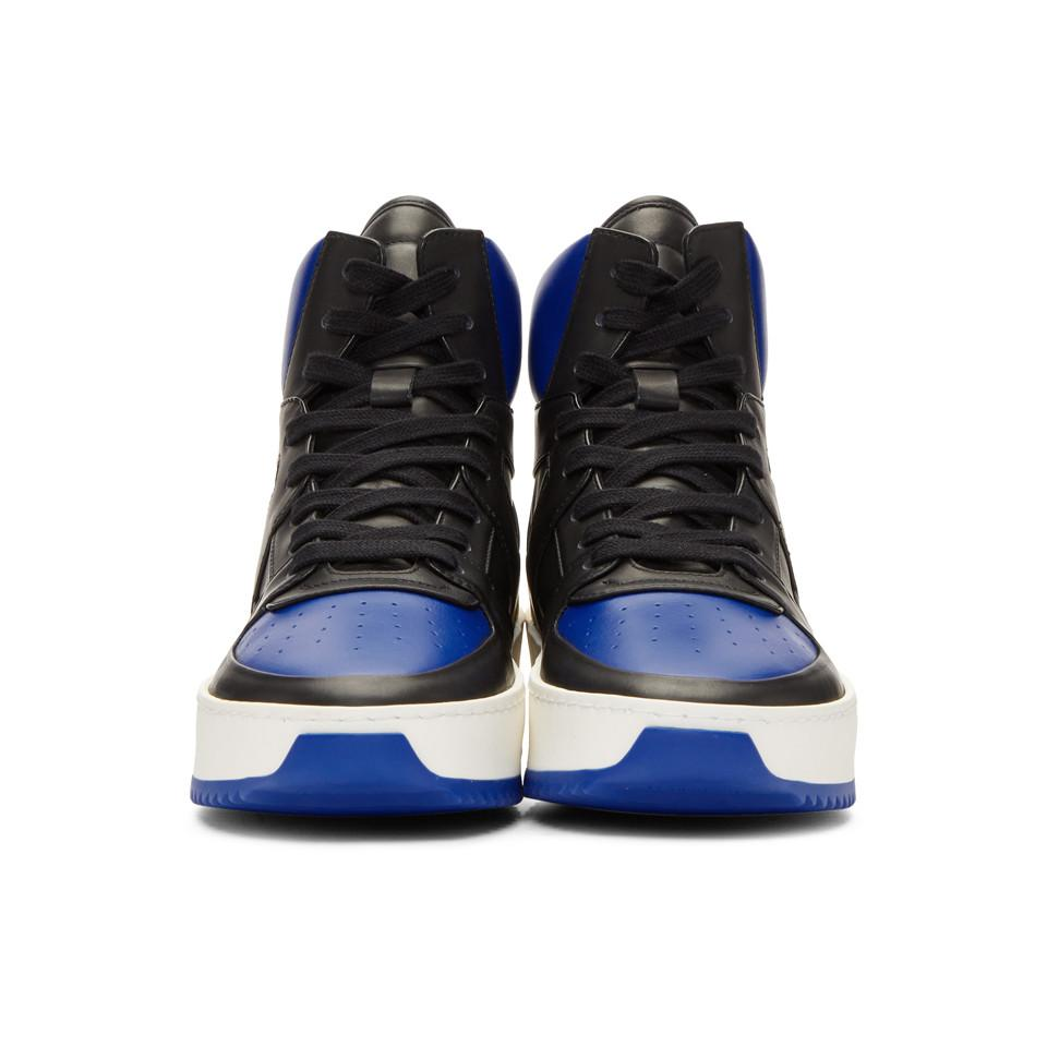Fear of God Black & Blue B-Ball High-Top Sneakers