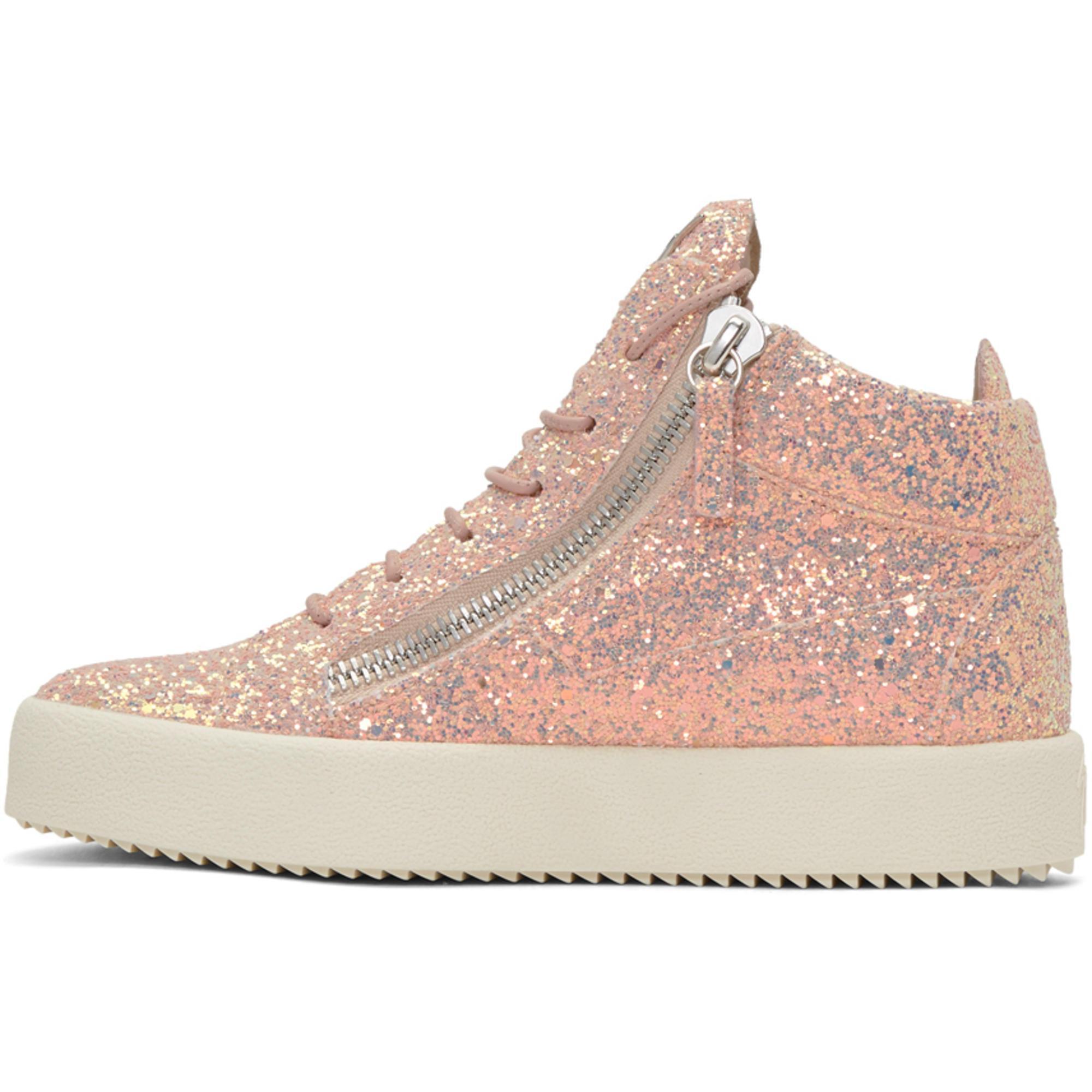6fc4bff272d86 Giuseppe Zanotti Ssense Exclusive Pink Glitter May London High-top ...