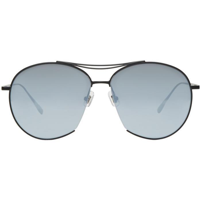ac4f1ca6eab Gentle Monster Black Jumping Jack Aviator Sunglasses in Black for ...