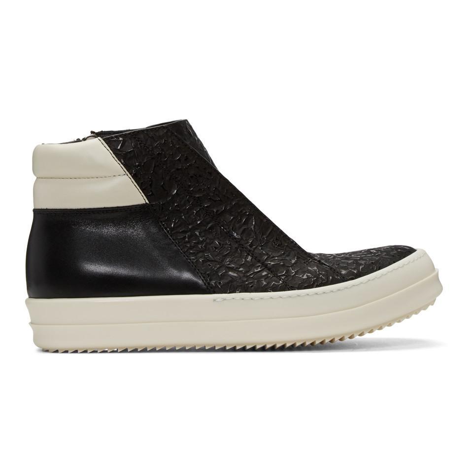 Rick Owens Island Dunk Combo High-Top Sneakers KCJRd