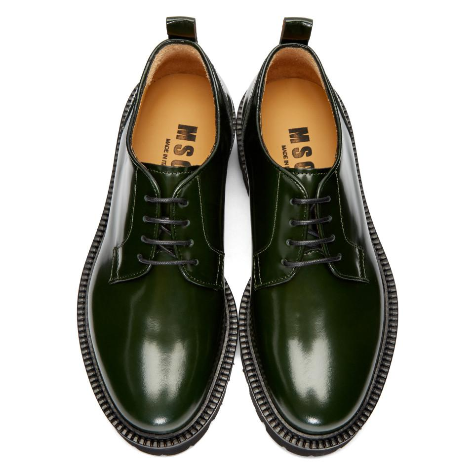 Green Light Sole Derbys Msgm Buy Cheap Authentic Countdown Package Online Cheap Sale Footlocker eh2by9ggp
