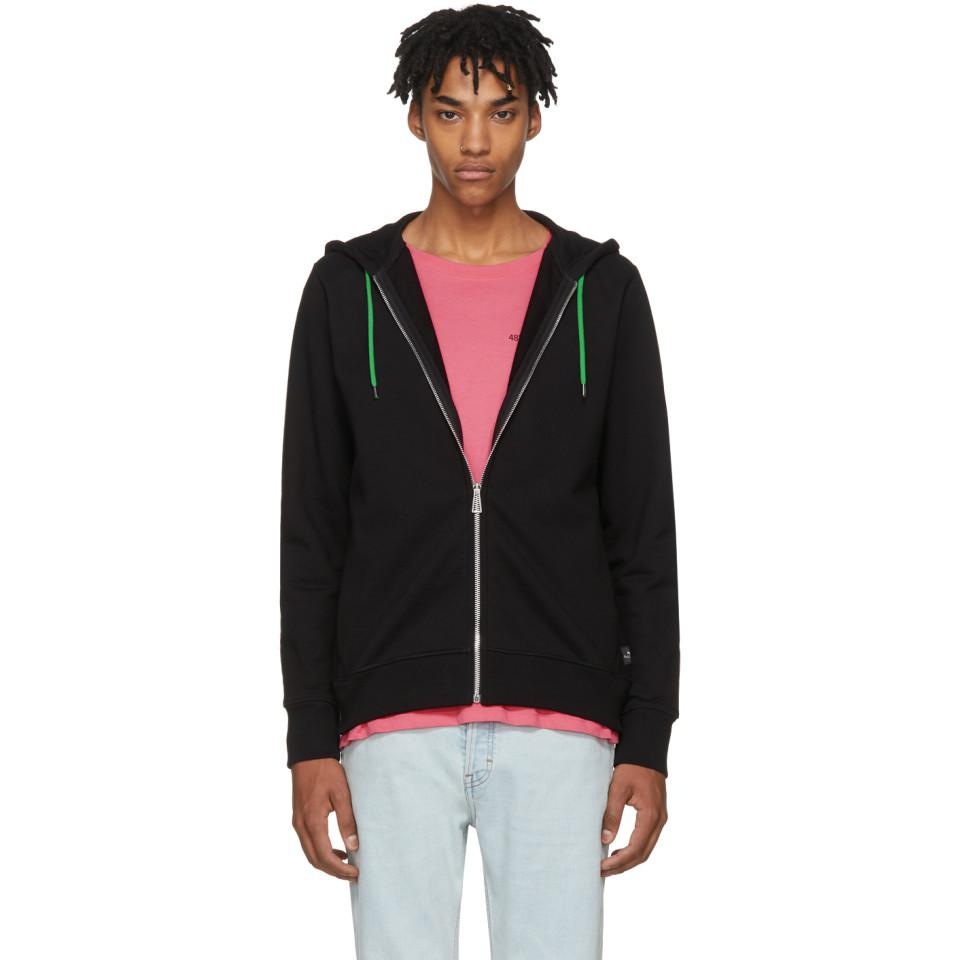 18ab49c6613e9 PS by Paul Smith Black Zip Hoodie in Black for Men - Lyst