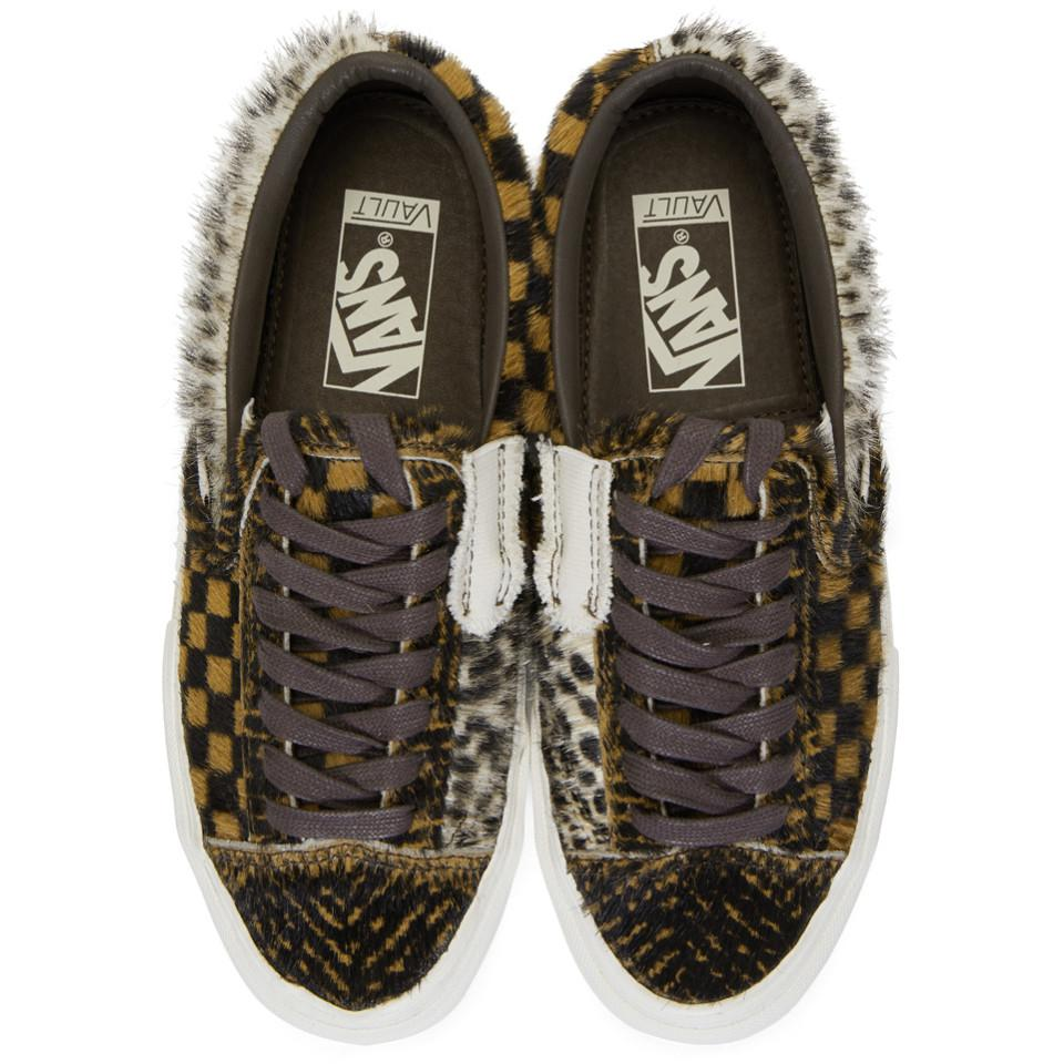 4b9f025e6b Vans - Brown Vault Pony Hair Slip-on Cap Lx Sneakers for Men - Lyst. View  fullscreen