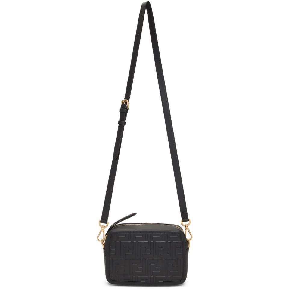 c7d6dc96b88b Fendi Black Mini Forever Camera Bag in Black - Lyst