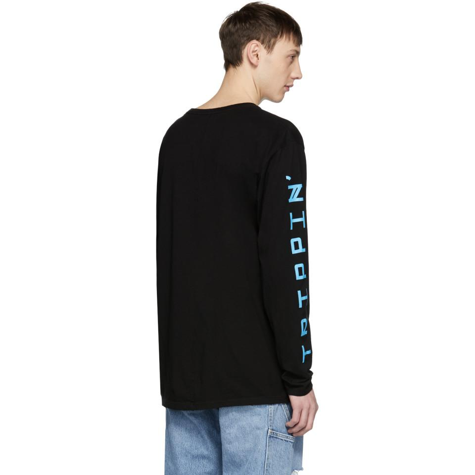 Black Long Sleeve Trippin T-Shirt Baja East Shipping Discount Sale Buy Cheap Shop Hot Sale Outlet Pictures PpIZLv3a5b