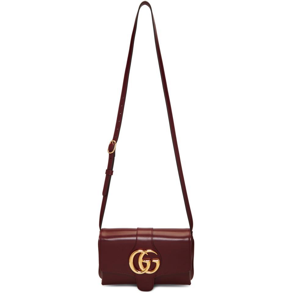 1b6c75c06f7a Gucci Red Small Arli Shoulder Bag - Lyst