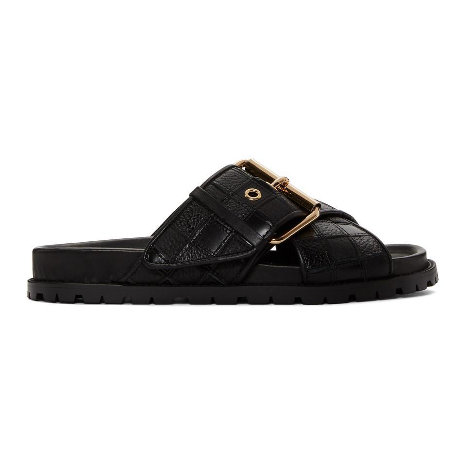 Sacai Black Patchwork Straps Sandals RRbIslQ